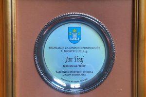 Nagrada za iznimna postignuča u sportu 2018. otišla u ruke Rotorovcu Janu Tisaju